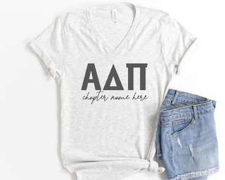 Alpha Delta Pi Chapter V-Neck Tee