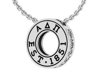 Alpha Delta Pi Circle Established Charm Necklace - ON SALE!