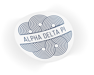 Alpha Delta Pi Geo Scroll Sticker Sticker
