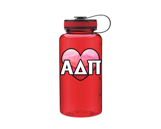 Alpha Delta Pi Heart Wide Mouth Water Bottle