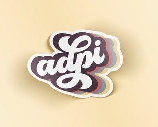 Alpha Delta Pi Retro Sticker