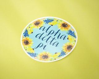 Alpha Delta Pi Sunflower Sticker