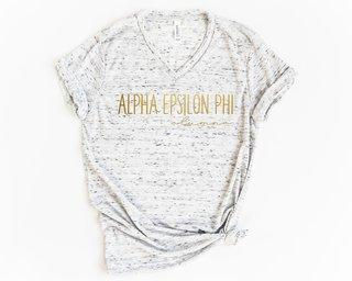 Alpha Epsilon Phi Alumna Vneck Tee