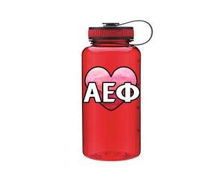 Alpha Epsilon Phi Heart Wide Mouth Water Bottle