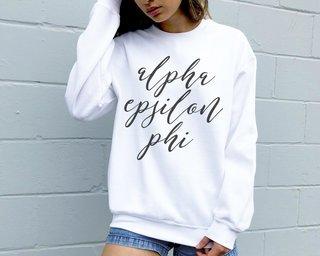 Alpha Epsilon Phi Script Sweatshirt