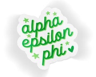 Alpha Epsilon Phi Star Sticker