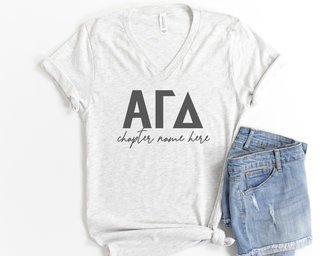 Alpha Gamma Delta Chapter V-Neck Tee