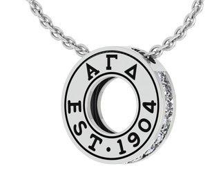 Alpha Gamma Delta Circle Established Charm Necklace - ON SALE!