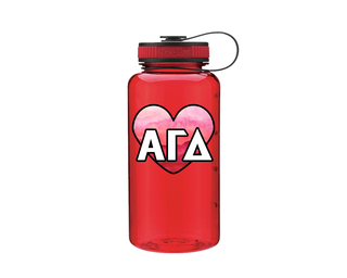 Alpha Gamma Delta Heart Wide Mouth Water Bottle