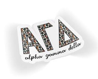 Alpha Gamma Delta Leopard Sticker