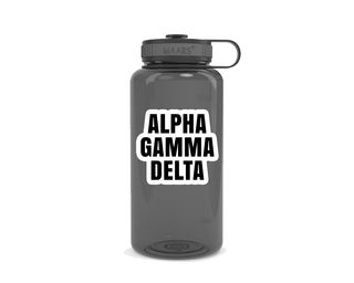 Alpha Gamma Delta Simple Wide Mouth Water Bottle