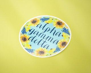 Alpha Gamma Delta Sunflower Sticker Sticker