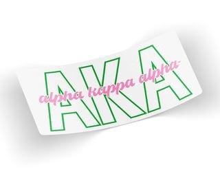 Alpha Kappa Alpha Letters Script Decal