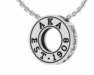 Alpha Kappa Alpha Circle Established Charm Necklace - FREE GROUND SHIPPING
