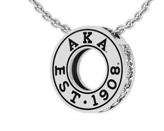 Alpha Kappa Alpha Circle Established Charm Necklace - ON SALE!