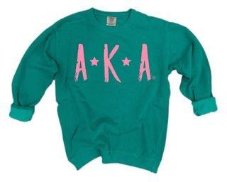 Alpha Kappa Alpha Comfort Colors Starry Night Crew