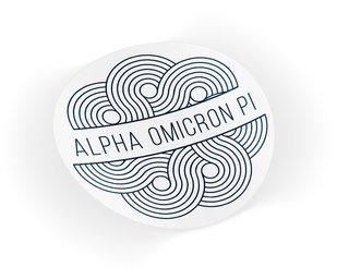 Alpha Omicron Pi Geo Scroll Sticker Sticker