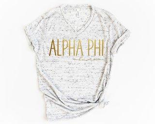 Alpha Phi Alumna Vneck Tee