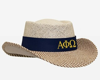 Alpha Phi Omega Straw Hat