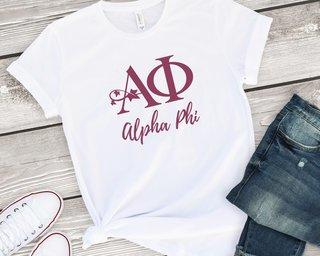 Alpha Phi Logo Tee