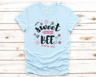Alpha Phi Sweet As Can Bee Tee