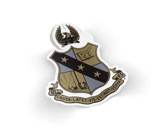 Alpha Sigma Phi Die Cut Crest Sticker