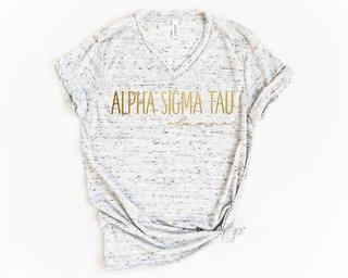 Alpha Sigma Tau Alumna Vneck Tee
