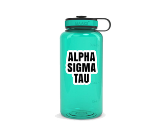Alpha Sigma Tau Simple Wide Mouth Water Bottle