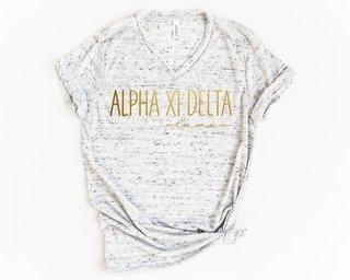 Alpha Xi Delta Alumna Vneck Tee