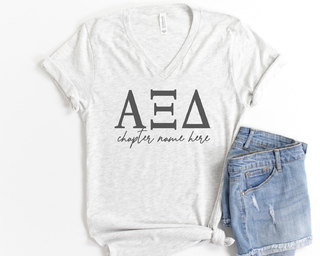 Alpha Xi Delta Chapter V-Neck Tee