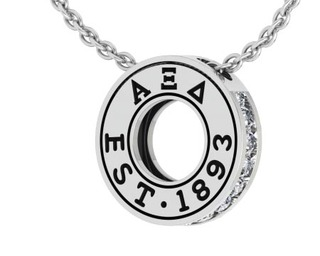 Alpha Xi Delta Circle Established Charm Necklace - ON SALE!