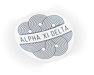 Alpha Xi Delta Geo Scroll Sticker Sticker