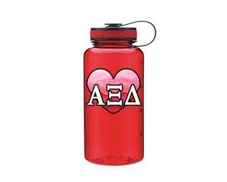 Alpha Xi Delta Heart Wide Mouth Water Bottle