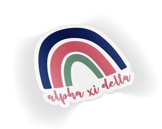 Alpha Xi Delta Rainbow Sticker