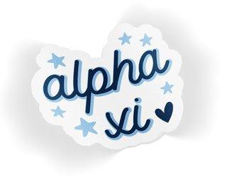 Alpha Xi Delta Star Sticker
