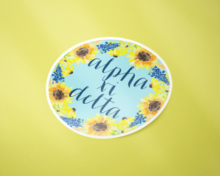 Alpha Xi Delta Sunflower Sticker