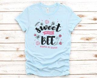 Alpha Xi Delta Sweet As Can Bee Tee