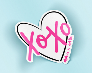 Alpha Xi Delta XOXO Sticker