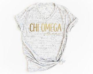 Chi Omega Alumna Vneck Tee