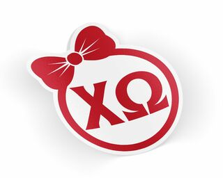 Chi Omega Bow Decal