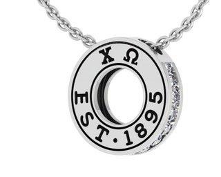Chi Omega Circle Established Charm Necklace - ON SALE!