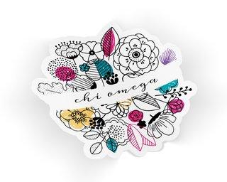 Chi Omega Flower Sticker