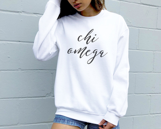 Chi Omega Script Sweatshirt
