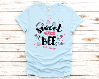 Chi Omega Sweet As Can Bee Tee