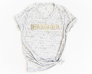 Delta Delta Delta Alumna Vneck Tee