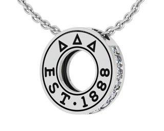 Delta Delta Delta Circle Established Charm Necklace - ON SALE!