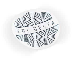 Delta Delta Delta Geo Scroll Sticker Sticker