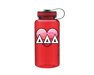 Delta Delta Delta Heart Wide Mouth Water Bottle