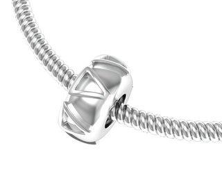 Delta Delta Delta Silver Bead Necklace
