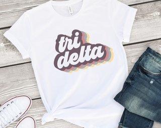 Delta Delta Delta Retro Script Tee
